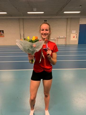 Brons voor Sarah van Beilen op NK Indoor Meerkamp junioren