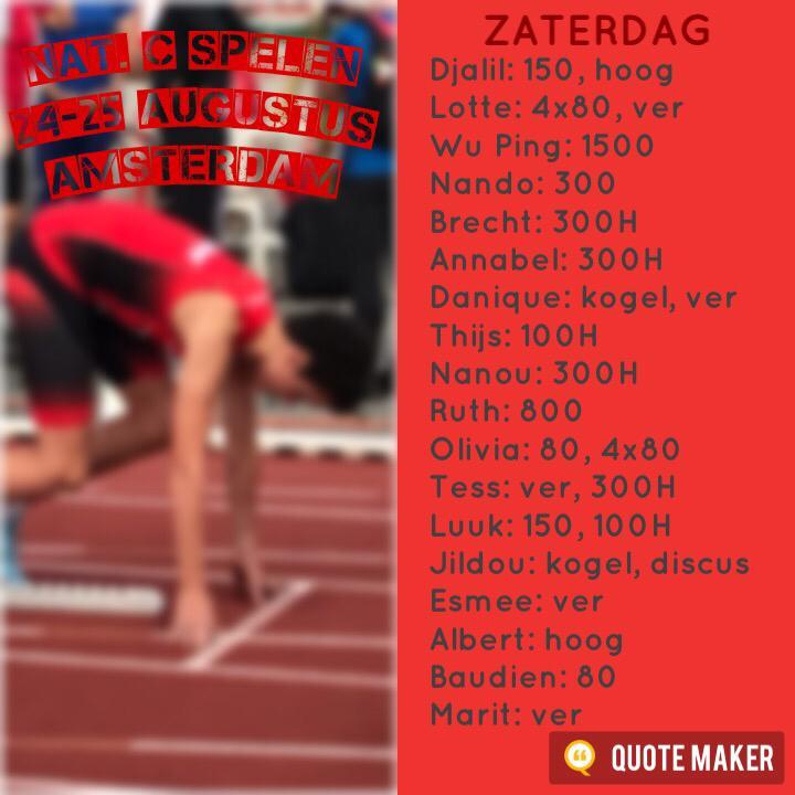 52e Nationale C Spelen Dag 1 - Amsterdam (24-08-2019)